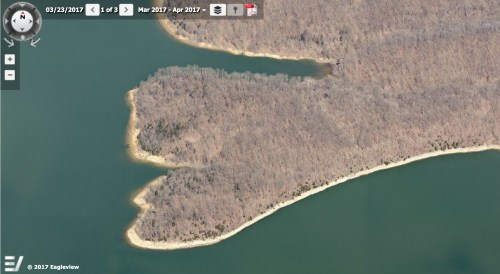 March 23, 2017 image of Huff property from the Pictometry module of Monroe County's GIS system. https://monroein.elevatemaps.io/