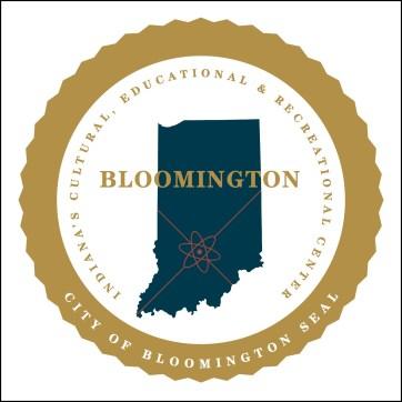 Graphic artist rendering based on description of Bloomington city seal description in 1971 ordinance.