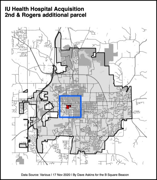 bordered Low Res R Map Rogers parcel on hospital siteYYYxxxx
