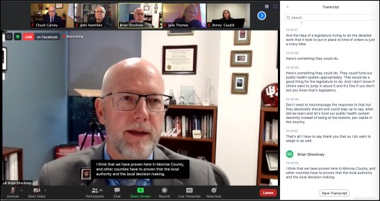 Screenshot of Dec. 30, 2020 video conferenced press event on COVID-19 response.