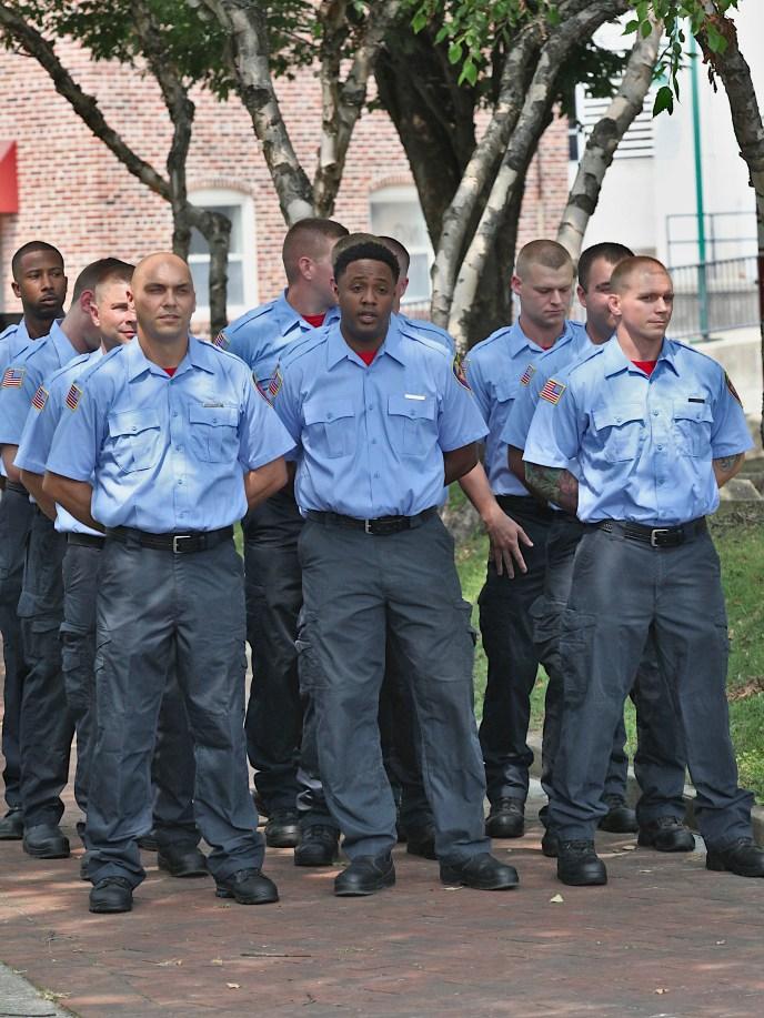 Eleven new Bloomington firefighters sworn in on July 23, 2021.