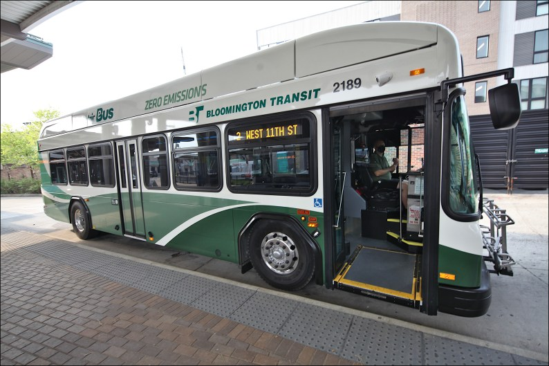 A new all-electric bus bus recently delivered to BT.