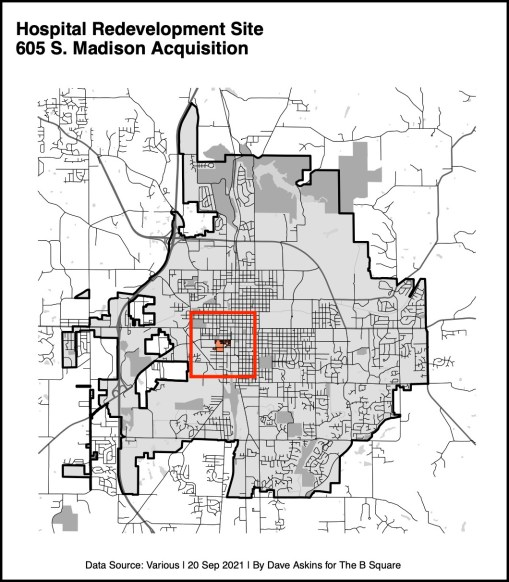 bordered Low res R Map 605 Madison hospital siteYYYxxxx