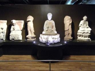 View of multiple rock carvings