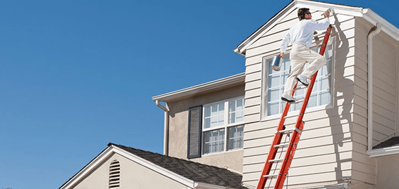 exterior painting a house