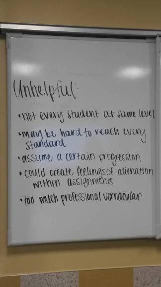 What makes writing standards unhelpful?