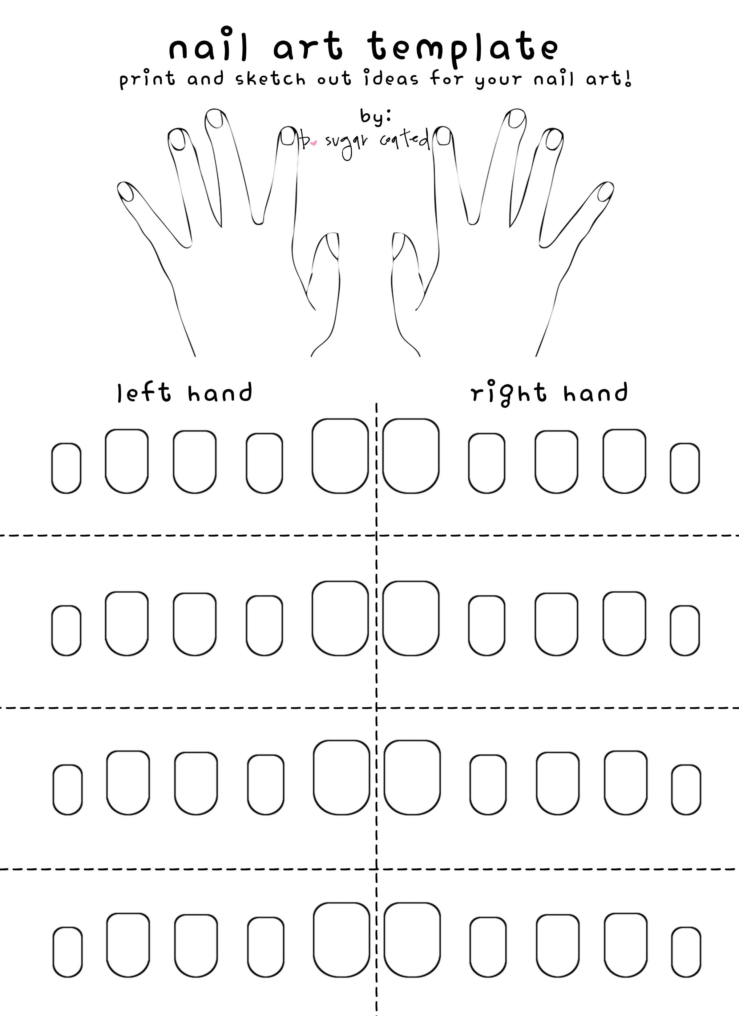 Free Printable Nail Art Template
