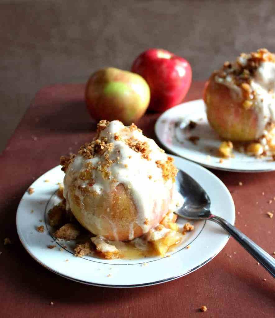 Baked Apple Ice Cream Bowls