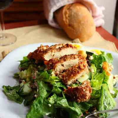 Brown Sugar & Pecan Crusted Chicken Goat Cheese Salad
