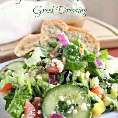 Greek Salad and Homemade Greek Dressing