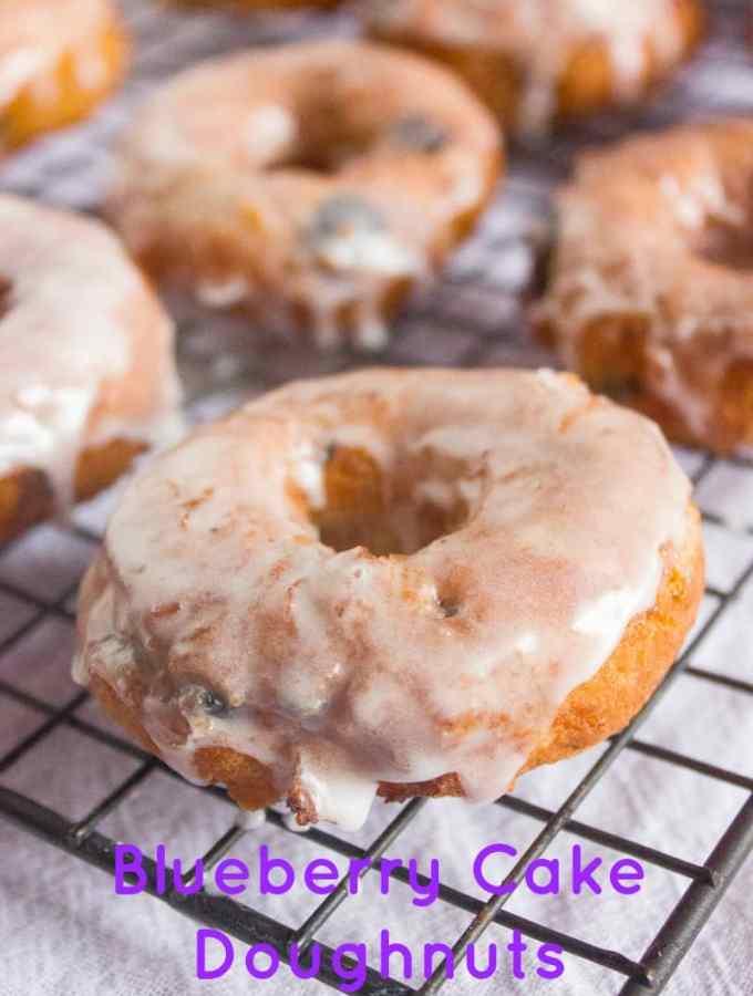 Blueberry Cake Doughnuts