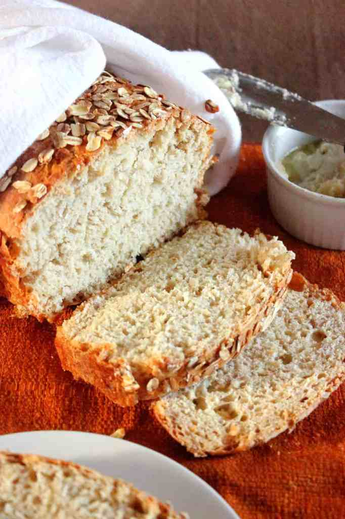 Honey Oat Bread with Honey Vanilla Bean Butter