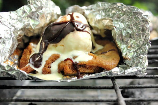 Grilled Chocolate Chip Cookie Sundae
