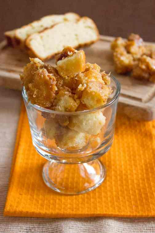 Brioche Caramel Croutons