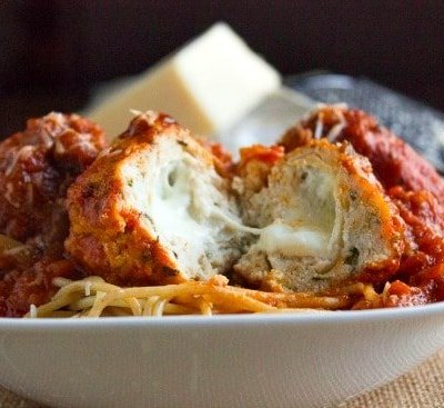 Mozzerella Stuffed Turkey Meatballs | REVISED