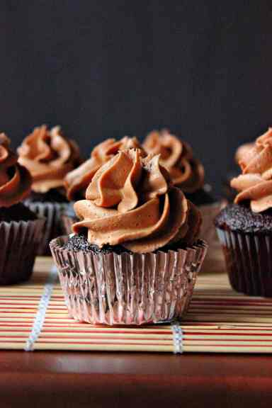 Devil's Chocolate Cupcakes w/ Spicy Mexican Chocolate ...
