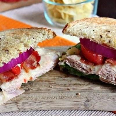 Turkey Club Melt Sandwich