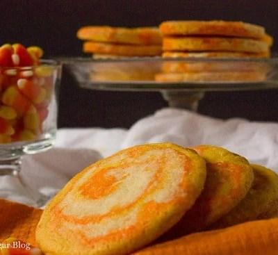 Candy Corn Swirl Sugar Cookies