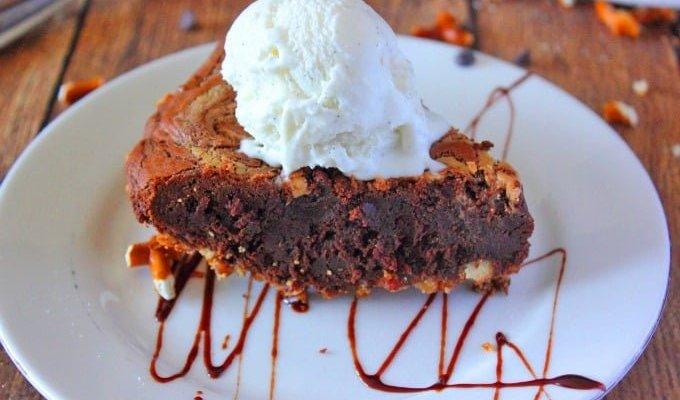 Peanut Butter Brownie Pie