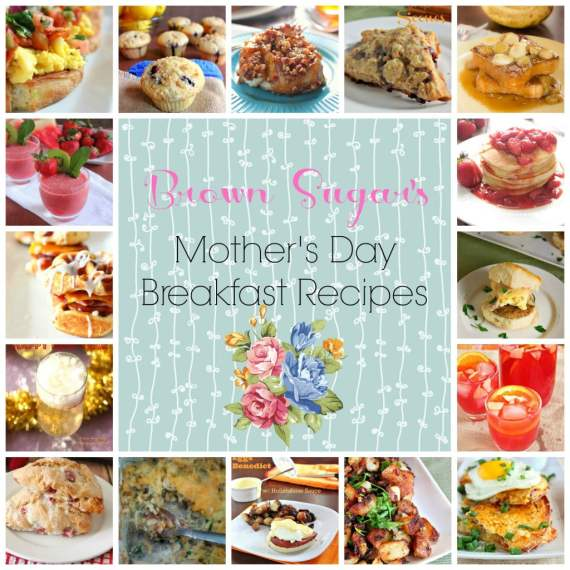 Mothers Day breakfast collage