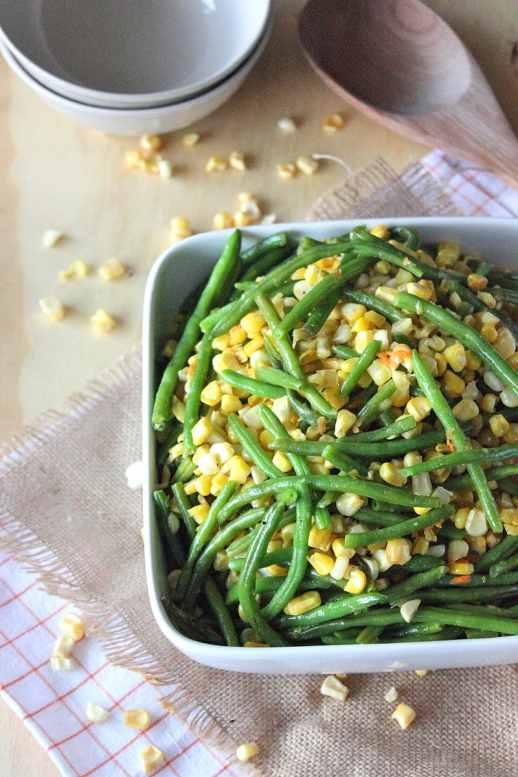 Sweet Corn and Green Bean  Succotash