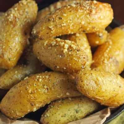 Buttery Parmesan Fingerling Potatoes