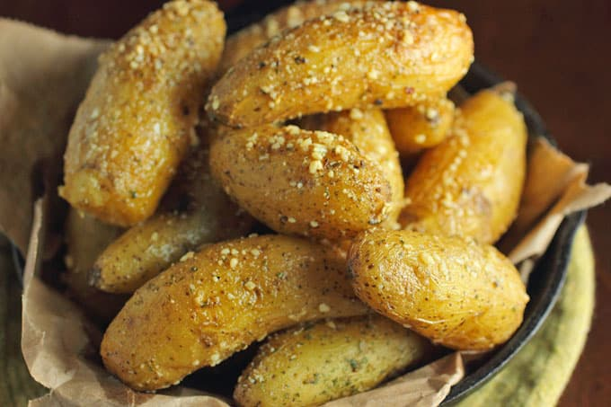 Buttery Parmesan Fingerling Potatoes