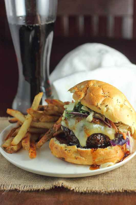 Asian Style Burger with Asian Slaw