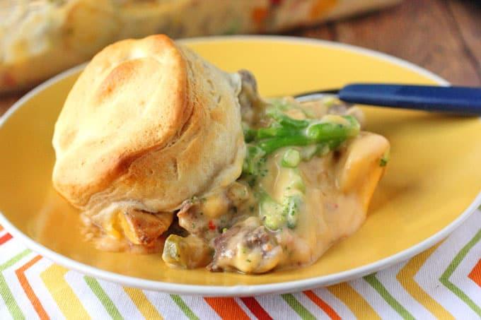 Cheesy Steak and Potato Casserole