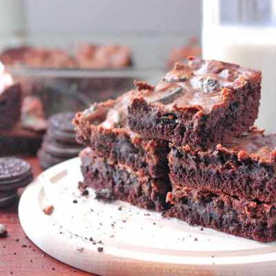 Ooey Gooey Chocolate Oreo Bars