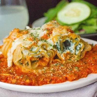Skinny Lasagna Rolls Recipe