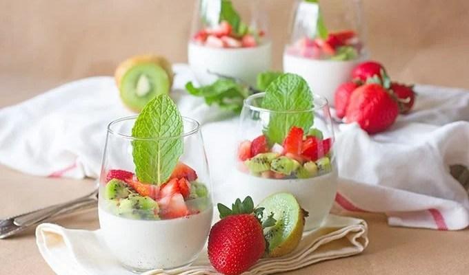 Strawberry Kiwi Panna Cotta