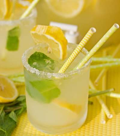 Lemon Mint 'Mock Margaritas'