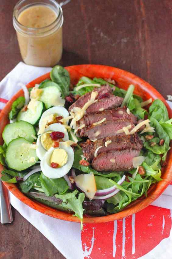 Steak Salad Recipe with Vidalia Onion Dressing