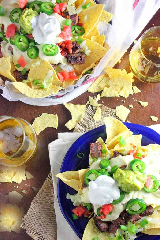 Steak and Beer Cheese Tailgate Nachos