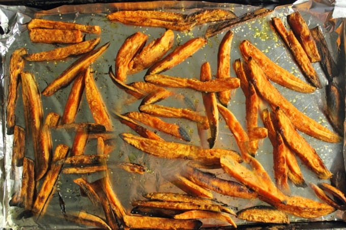 Oven Baked Sweet Potato Fries & Kitchen IQ Products