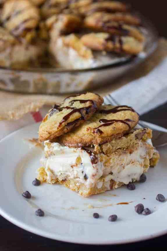 Chocolate Chip Cookie Ice Cream Pie