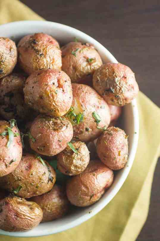 Roasted Red Potatoes with Garlic and Tarragon