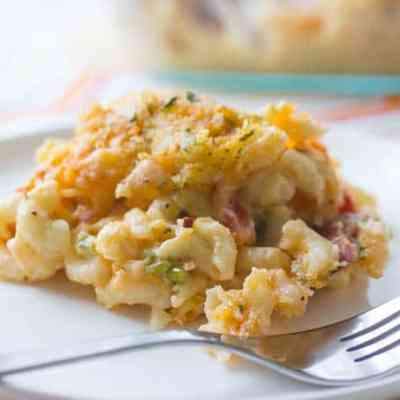 Loaded Baked Macaroni and Cheese