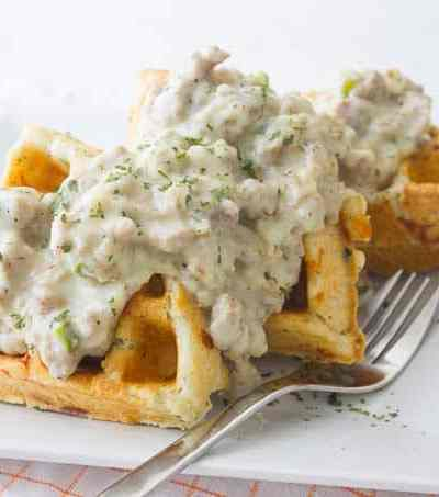 Waffle Biscuit and Gravy