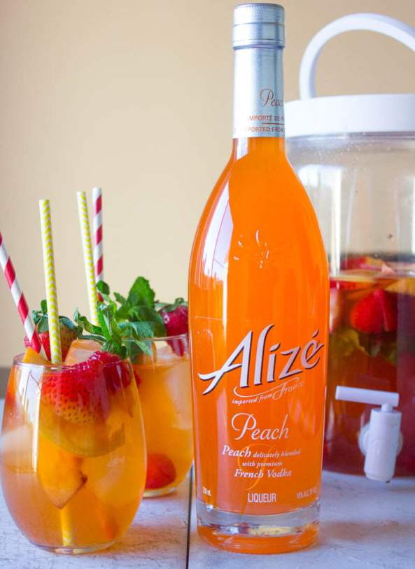 Peach Ice Tea with Peach Alize Vodka