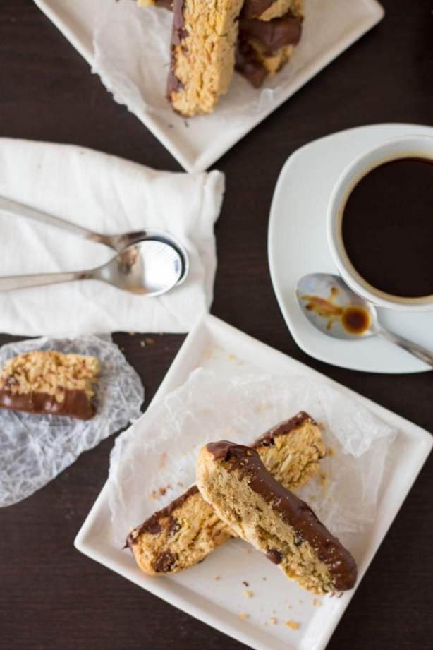Chocolate and Almond Biscotti