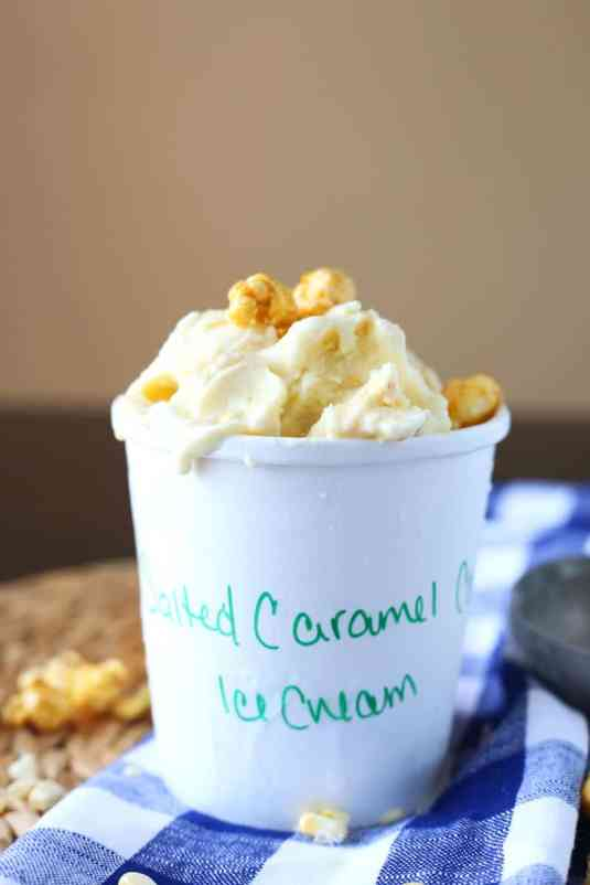 Salted Caramel Corn Ice Cream Recipe