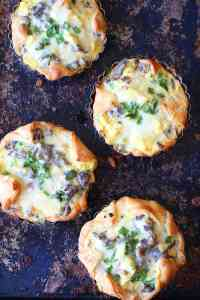 Steak and White Cheddar Egg Souffles