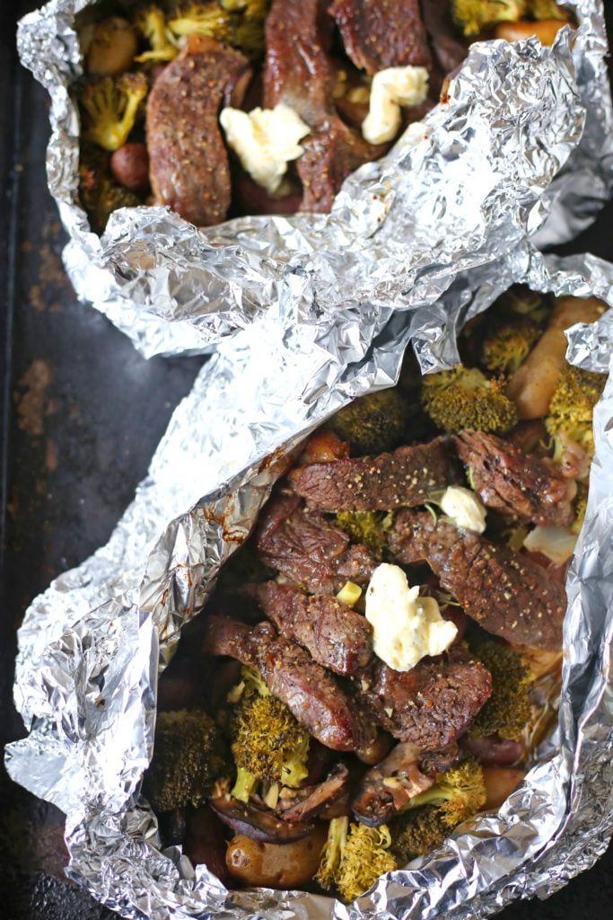 Steak and Potato Foil Packets