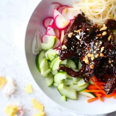 Asian Beef Vegetable Bowl
