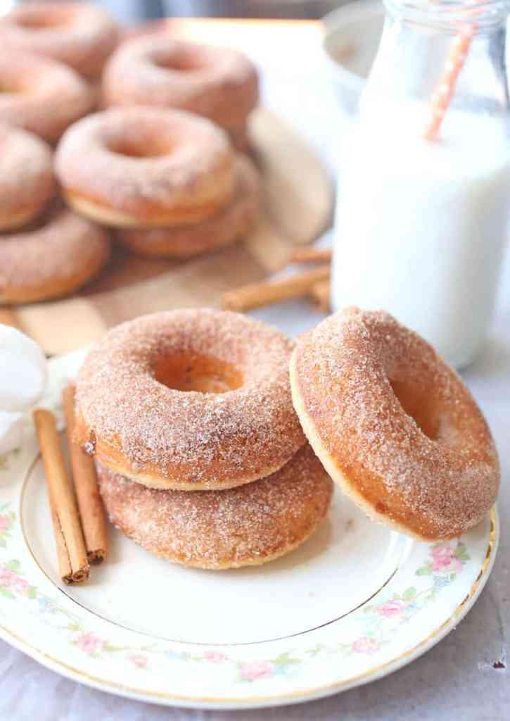 Cinnamon Sugar Baked Doughnuts