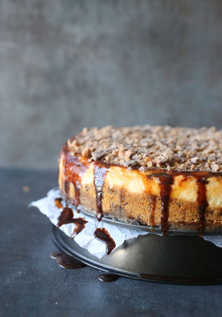 Toffee Crunch Cheesecake Recipe