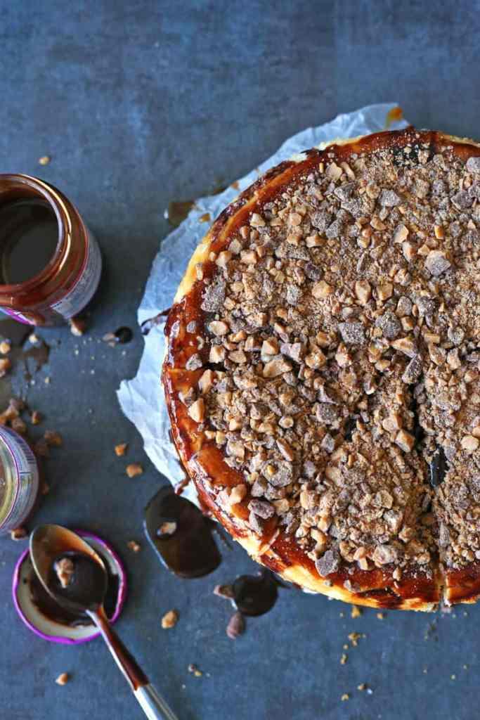 Toffee Crunch Cheesecake Recipe