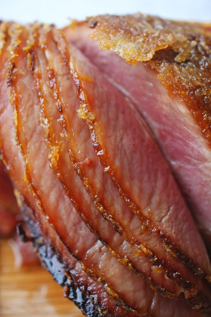 Bourbon and Cinnamon Glazed Baked Ham